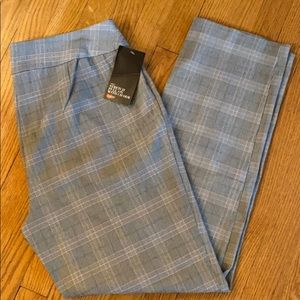 Stretch plaid dress pants, NWT